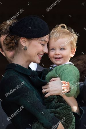 Beatrice Borromeo and son Francesco