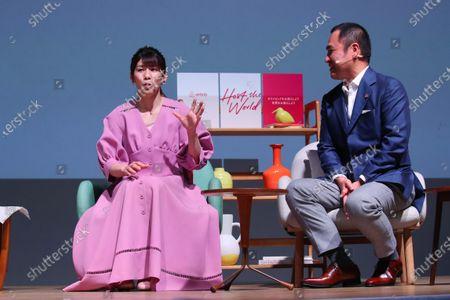 (L to R)  Saori Yoshida,   Airbnb Japan Yasuyuki Tanabe