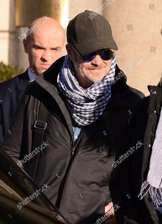 Magne Furuholmen leaving a hotel in Warsaw