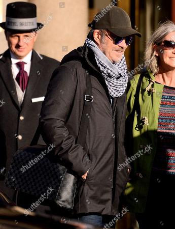 Stock Image of Magne Furuholmen leaving a hotel in Warsaw