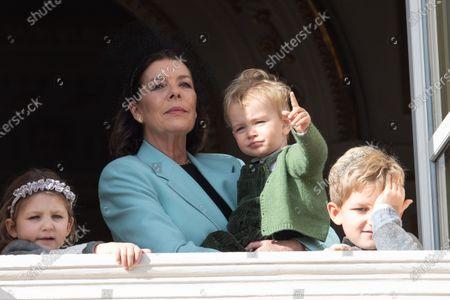 Princess Caroline of Hanover, Francesco Casiraghi, India Casiraghi and Sasha Casiraghi