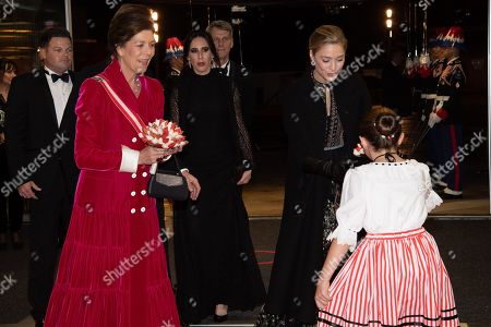 Prince Albert II and Princess Charlene and Beatrice Borromeo