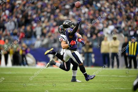 Editorial photo of Texans Ravens Football, Baltimore, USA - 17 Nov 2019
