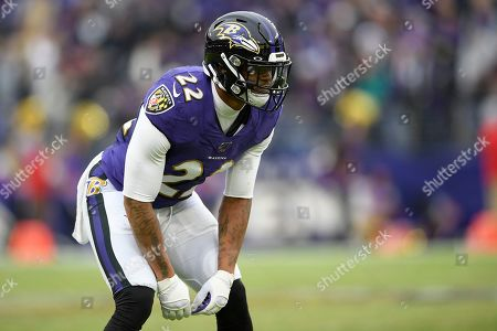 Baltimore Ravens cornerback Jimmy Smith (22) stands on the field during the second half of an NFL football game against the Houston Texans, in Baltimore. The Ravens won 41-7