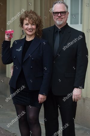 Dr. Jacqueline Dankworth and partner Charlie Wood, Recording Artist, Actress and Singer, is awarded an MBE for services to Music