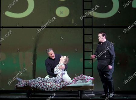 Editorial image of 'Orphee' Opera by Philip Glass performed by English National Opera at the London Coliseum, UK - 13 Nov 2019
