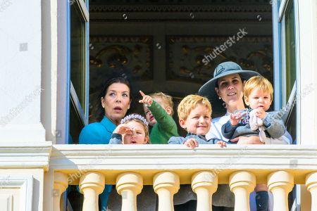 Tatiana Santo Domingo, Princess Caroline of Hanover, India Casiraghi, Alexander Casiraghi and Francesco Casiraghi