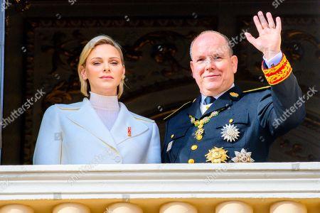 Stock Image of Princess Charlene and Prince Albert II