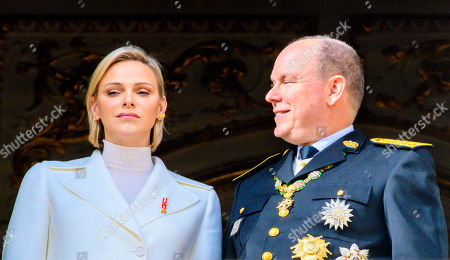 Stock Picture of Princess Charlene and Prince Albert II