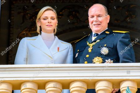 Stock Photo of Princess Charlene and Prince Albert II