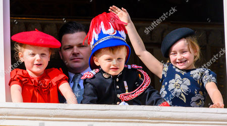 Stock Photo of Princess Gabriella, Prince Jacques and Kaia Rose Wittstock