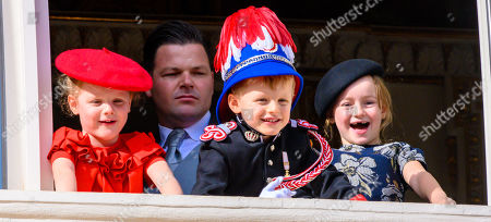 Stock Image of Princess Gabriella, Prince Jacques and Kaia Rose Wittstock