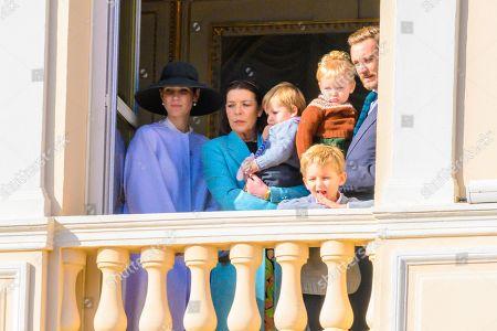 Tatiana Santo Domingo, Princess Caroline of Hanover, Pierre Casiraghi, India Casiraghi, Alexander Casiraghi and Francesco Casiraghi