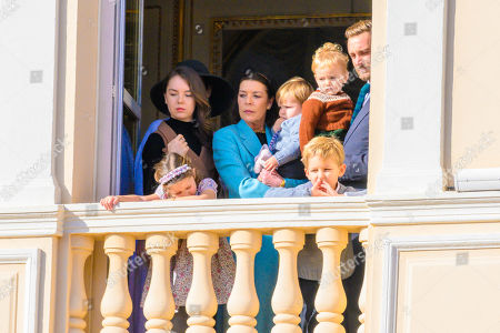 Princess Caroline of Hanover, Princess Alexandra of Hanover, India Casiraghi, Alexander Casiraghi and Francesco Casiraghi