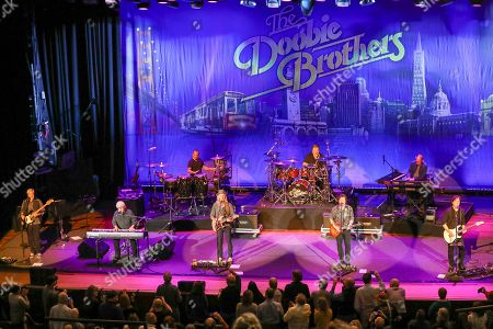 Stock Picture of Michael McDonald, Doobie Brothers. Michael McDonald, second from left, on keyboards performs with the Doobie Brothers at The Doobie Brothers at Ryman Auditorium, in Nashville, Tenn