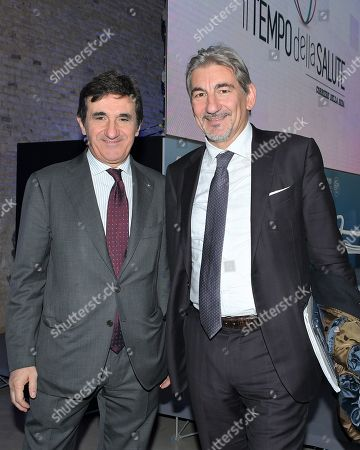 Urbano Cairo president of Cairo Communication, RCS MediaGroup, and Raffaele Cattaneo regional councilor for Lombardy Environment and Climate