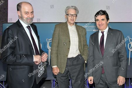 Urbano Cairo president of Cairo Communication, RCS MediaGroup, professor Pier Mannuccio Mannucci and Luigi Ripamonti, journalist
