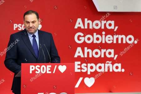 Editorial image of Abalos adresses a press conference after the sentence of the so-called ERE case, Madrid, Spain - 19 Nov 2019