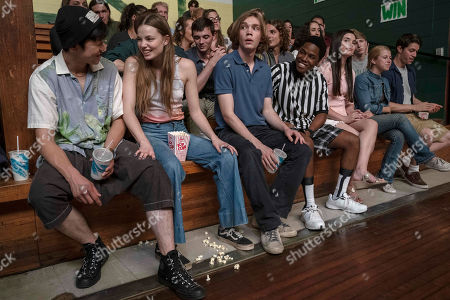 Jay Lee as Takumi, Kristine Froseth as Alaska Young, Charlie Plummer as Miles Halter, Denny Love as The Colonel and Landry Bender as Sara