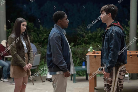 Stock Photo of Landry Bender as Sara, Denny Love as The Colonel and Uriah Shelton as Longwell