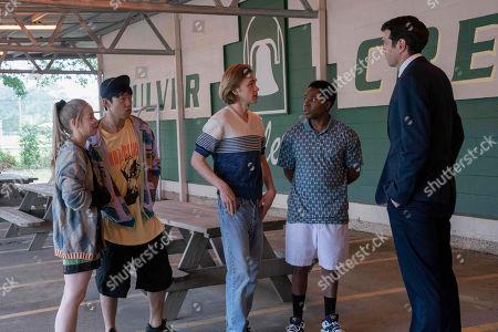 Sofia Vassilieva as Lara Buterskaya, Jay Lee as Takumi, Charlie Plummer as Miles Halter, Denny Love as The Colonel and Timothy Simons as The Eagle
