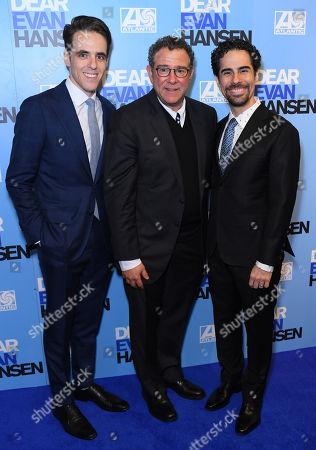 Stock Photo of Steven Levenson, Michael Greif and Alex Lacamoire