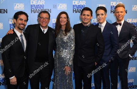 Stock Image of Alex Lacamoire, Michael Greif, Stacey Mindich, Benj Pasek, Steven Levenson and Justin Paul