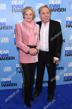 Sir Andrew Lloyd Webber and wife Madeleine