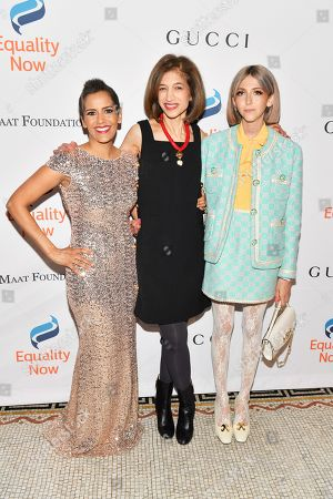 Stock Photo of Sheetal Sheth, Yasmeen Hassan and Scarlett Curtis