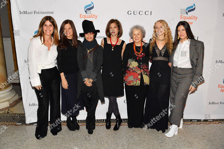 Simone Lahorgue, Sue Smalley, Linda Perry, Yasmeen Hassan, Margaret Atwood, Lara Stein and Paula Ravets