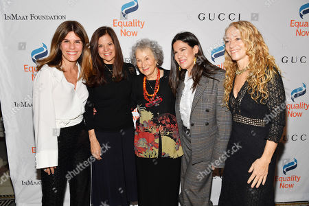 Simone Lahorgue, Sue Smalley, Margaret Atwood, Paula Ravets and Lara Stein
