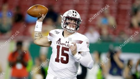 Temple quarterback Anthony Russo looks to pass against South Florida during the second half of an NCAA college football game, in Tampa, Fla