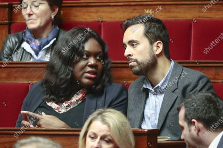 Laetitia Avia and Mounir Mahjoubi during the weekly session of questions to the government at the national Assembly.