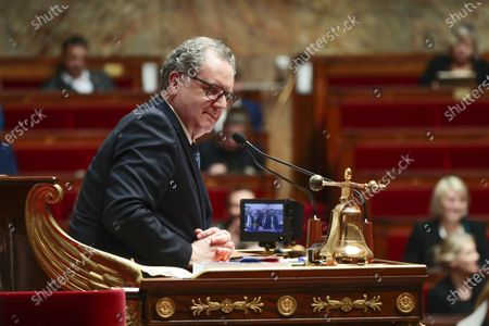 Stock Image of Richard Ferrand during the weekly session of questions to the government at the national Assembly.