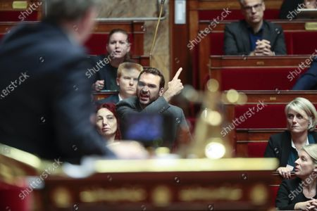Uno Bernalicis reacted to Richard Ferrand during the weekly session of questions to the government at the national Assembly.