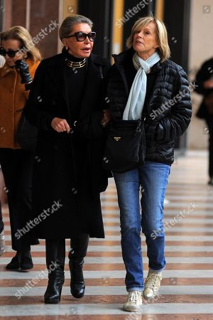 Editorial image of Marina Doria out and about, Rome, Italy - 12 Nov 2019