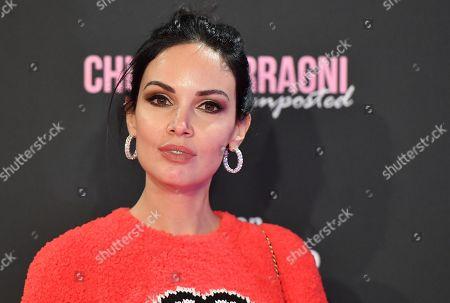 Stock Image of Michela Quattrociocche arrives for the screening of 'Chiara Ferragni - Unposted' at the Auditorium della Conciliazione in Rome, Italy, 19 November 2019.