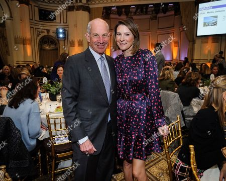 Stock Image of John Tisch, left, and Lizzie Tisch attend the Citymeals on Wheels 33rd annual Power Lunch for Women at The Plaza Hotel, in New York