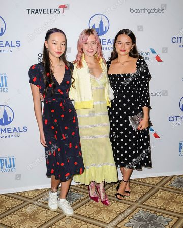 Chloe Murdoch, from left, Georgia May Jagger, and Grace Murdoch attend the Citymeals on Wheels 33rd annual Power Lunch for Women at The Plaza Hotel, in New York