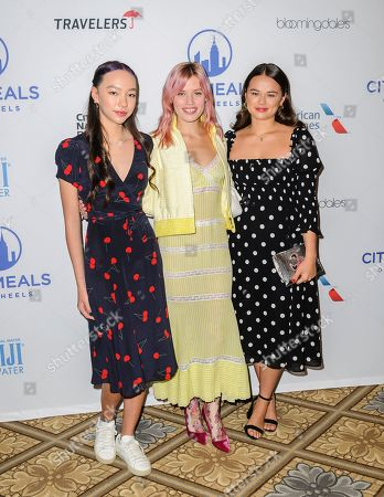 Stock Image of Chloe Murdoch, from left, Georgia May Jagger, and Grace Murdoch attend the Citymeals on Wheels 33rd annual Power Lunch for Women at The Plaza Hotel, in New York