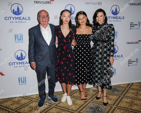 Rupert Murdoch, from left, Chloe Murdoch, Grace Murdoch, and Wendi Deng Murdoch attend the Citymeals on Wheels 33rd annual Power Lunch for Women at The Plaza Hotel, in New York