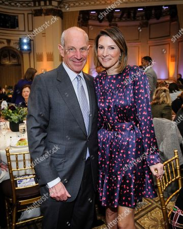 John Tisch, left, and Lizzie Tisch attend the Citymeals on Wheels 33rd annual Power Lunch for Women at The Plaza Hotel, in New York