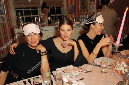 Stock Image of EXCLUSIVE - Natalie Kingham, Dree Hemingway and Emilia Wickstead