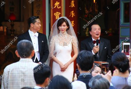 Stock Picture of Ryohei Kurosawa and Lin Chi-ling