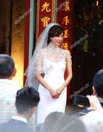 Editorial photo of Lin Chi-ling and Ryohei Kurosawa wedding ceremony, Tainan Art Museum, Tainan, Taiwan, China - 17 Nov 2019