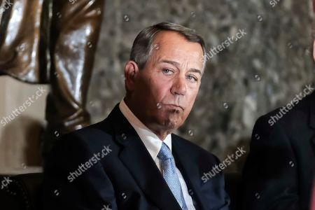 Former House Speaker John Boehner attends a ceremony to unveil a portrait of himself on Capitol Hill, in Washington