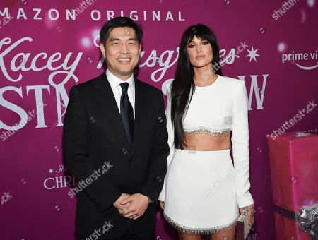 """Albert Cheng, Kacey Musgraves. Amazon Studios COO Albert Cheng, left, and singer-songwriter Kacey Musgraves attend the premiere of Amazon Prime Video's """"The Kacey Musgraves Christmas Show,"""" at Metrograph, in New York"""