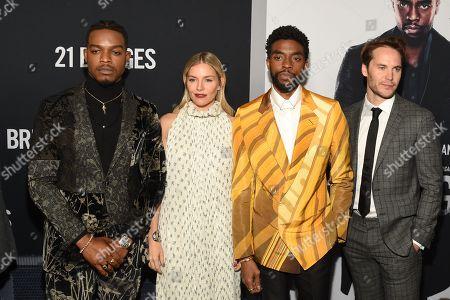 Stephan James, Sienna Miller, Chadwick Boseman, and Taylor Kitsch