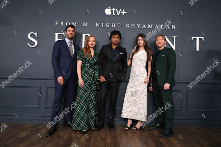 Toby Kebbell, Lauren Ambrose, M Night Shyamalan, Director/Executive Producer, Nell Tiger Free and Rupert Grint attend 'Servant' New York Premiere at BAM Howard Gilman Opera House on November 19, 2019 in Brooklyn. 'Servant' premieres exclusively on Apple TV+ on November 28.