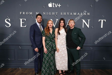 Toby Kebbell, Lauren Ambrose, Nell Tiger Free and Rupert Grint attend 'Servant' New York Premiere at BAM Howard Gilman Opera House on November 19, 2019 in Brooklyn. 'Servant' premieres exclusively on Apple TV+ on November 28.